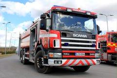 Scania 114G samochód strażacki na pokazie Zdjęcia Royalty Free