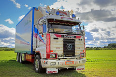 Scania 143H Kenth Fors of 3 Million Km stock photography