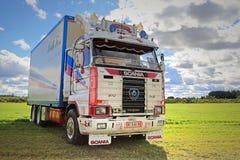 Scania 143H van Kenth Fors op de Show Royalty-vrije Stock Fotografie
