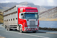 Scania 114L truck on a road Royalty Free Stock Photo