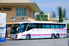 Scania largo estupendo autobús de 15 metros de la compañía de Sombattour ningún 18-8 Imagen de archivo