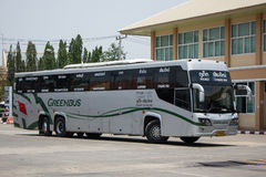 Scania 15 Meter bus of Greenbus company Stock Images
