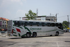 Scania 15-Meter-Bus von Greenbus-Firma Stockfoto