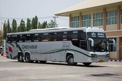 Scania 15-Meter-Bus von Greenbus-Firma Stockbilder