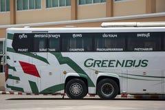 Scania 15-Meter-Bus von Greenbus-Firma Stockfotografie