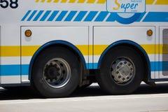 Scania 15 Meterbus van Sombattour-bedrijf Stock Foto