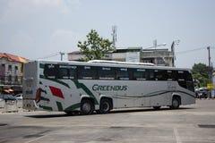 Scania ônibus de 15 medidores da empresa de Greenbus Foto de Stock