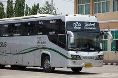 Scania ônibus de 15 medidores da empresa de Greenbus Foto de Stock Royalty Free