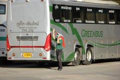 Scania novo ônibus de 15 medidores da empresa de Greenbus Fotos de Stock Royalty Free