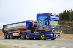 Scania R620 Asphalt Truck Road Runner Royalty-vrije Stock Afbeelding