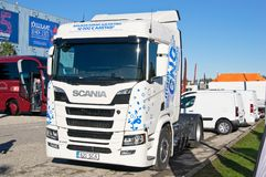 Scania R410 CNG stock images