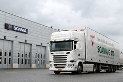 Scania R410  Euro 6 V8 Semi Truck Royalty Free Stock Images