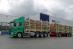 Scania R730 Euro 6 V8 Timber Truck Stock Image