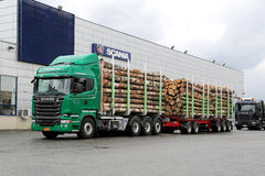 Scania R730 Euro 6 V8 Timber Truck Royalty Free Stock Photos