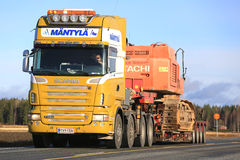 Scania R620 Of Mantyla Wide Load Royalty Free Stock Images
