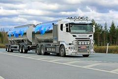 Scania R500 Milk Truck Hauls Valio Milk Stock Image