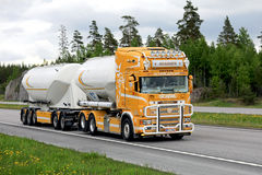 Scania R164 Super Tank Truck Transport stock photography