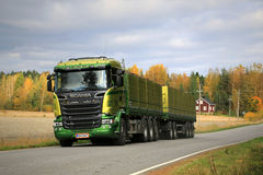 Scania R730 Truck Transports Sugar Beet Stock Image