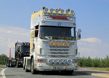 Scania Show Truck of Ralf Ekdahl in Finland Stock Images