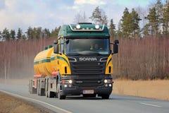 Scania Tank Truck Trucking Stock Photos