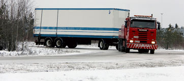 Scania Tow Truck Foto de archivo