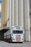 Scania Truck Outside of a Granary Stock Image