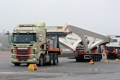 Scania Truck Transports Oversize Load Stock Images