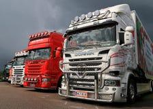 Scania Trucks at Riverside Truck Meeting 2015 Stock Photos