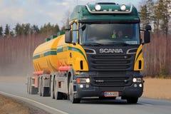 Scania V8 Tank Truck Trucking Stock Photos