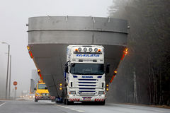 Scania Wide Load Road Transport Up Front Royalty Free Stock Photos