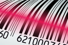 Scanned barcode Royalty Free Stock Photos