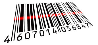 Scanned BarCode Stock Images