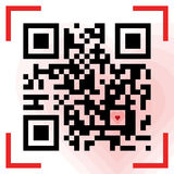Scanned Qr reads I love you. Vector illustration of Qr sample with small red heart inside. Scanned Qr reads I love you Royalty Free Stock Images