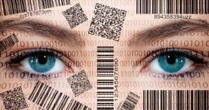 Scanner-Augen Stockfotografie