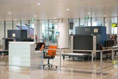 Scanner de bagages à l'aéroport Image libre de droits