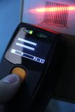 Scanner del codice a barre Immagine Stock