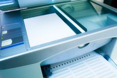 Scanner device working Stock Photography