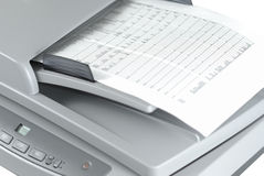 Scanner With Document Royalty Free Stock Photos