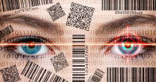 Scanner eyes Royalty Free Stock Image