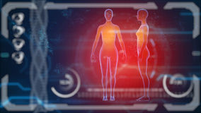 Scanner human body. Futuristic medical hud monitor. Medical concept future Royalty Free Stock Photos