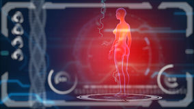 Scanner human body. Futuristic medical hud monitor. Medical concept future Royalty Free Stock Photography