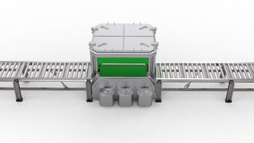 Scanner machine with empty conveyor belt Royalty Free Stock Images