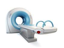 Scanner MRI, die op witte achtergrond wordt geïsoleerde. Stock Foto