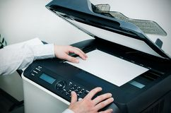 Scanner multifunction device in office Royalty Free Stock Image