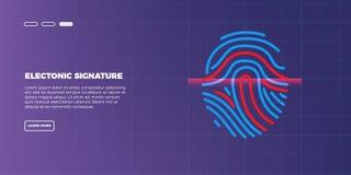 Scanner numérique futuriste abstrait d'empreinte digitale concept de sécurité de technologie Images stock