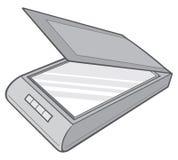 Scanner. Opened scanner vector illustration, scanner sign Royalty Free Stock Images