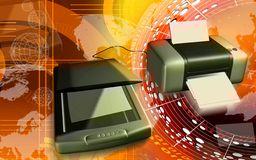 Scanner and printer Stock Photography