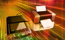 Scanner and printer Royalty Free Stock Photos