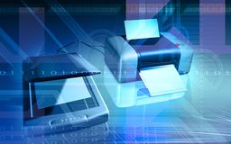 Scanner and printer Stock Image