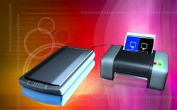 Scanner und Drucker Stockfotos